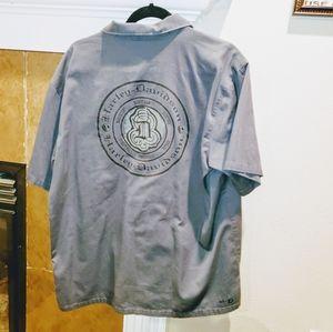 Harley Davidson Gray Button Down Shirt